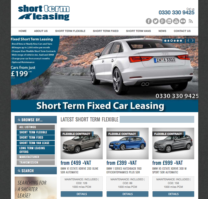 Short Term Leasing New Website