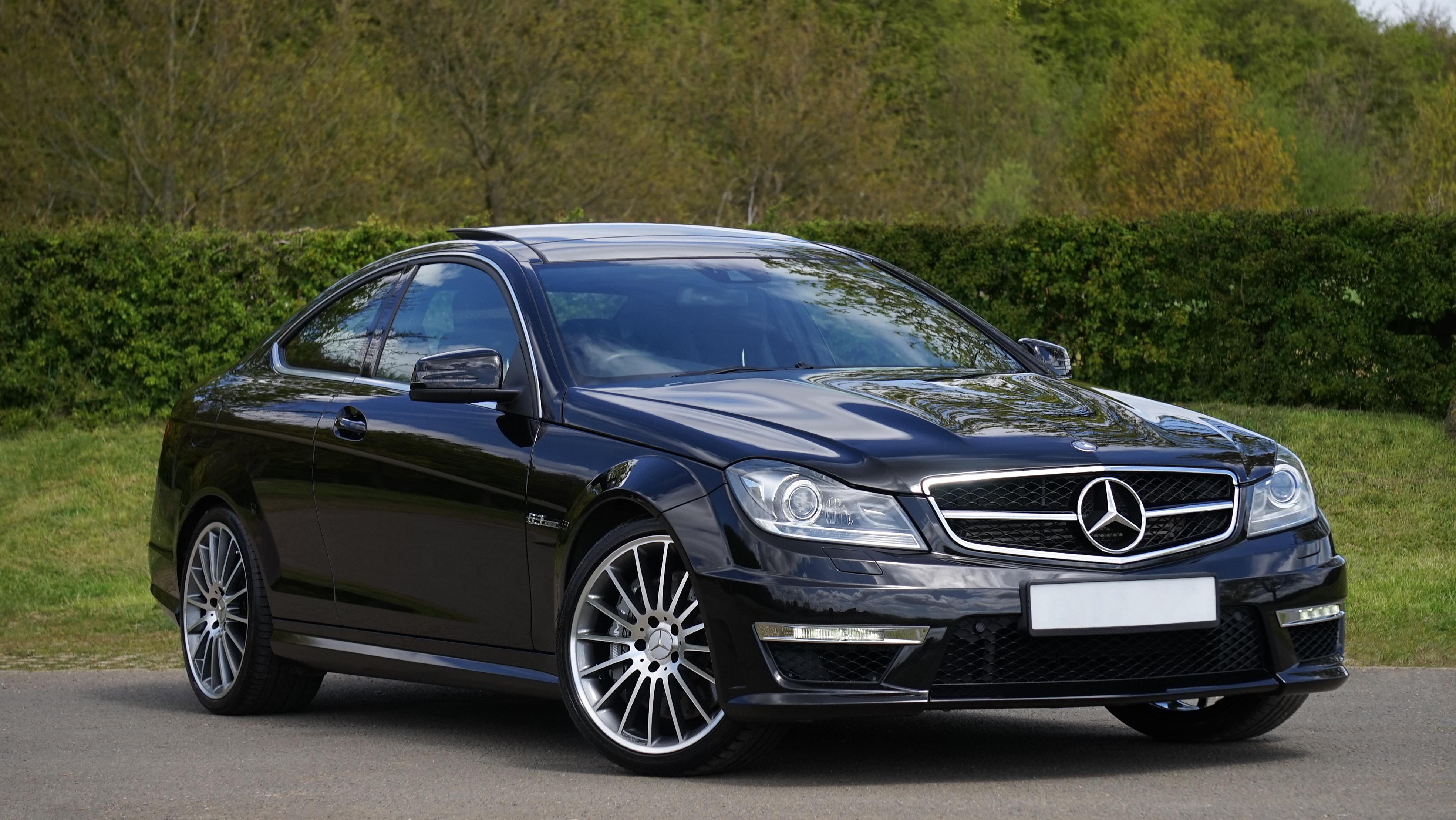 Black Coupe Car
