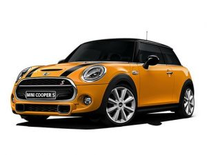 Mini Hatchback available on a 6 month car lease with 7500 miles over the term of the contract