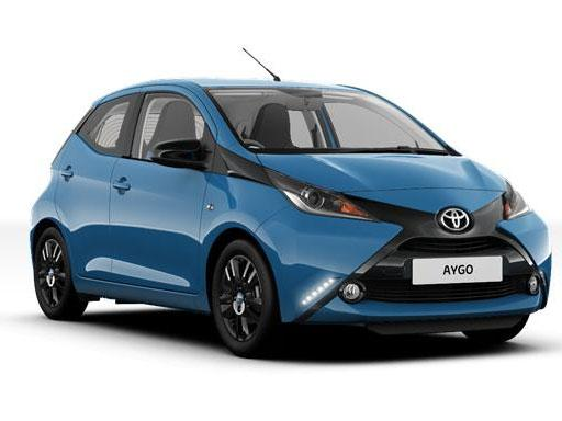 Toyota Aygo Hatchback available on a 12 month car lease with 18000 miles over the term of the contract