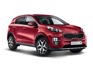 Kia Sportage Estate available on a 6 month car lease with 12000 miles over the term of the contract