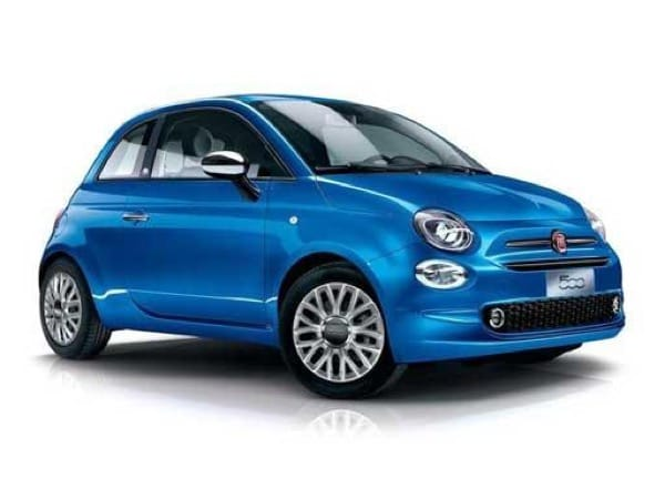 Fiat 500 Hatchback available on a 6 month car lease with 6000 miles over the term of the contract
