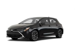 Toyota Corolla Hatchback available on a 5 month car lease with 7500 miles over the term of the contract