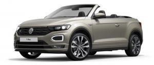 VW T-Roc Cabriolet available on a 6 month car lease with 9000 miles over the term of the contract