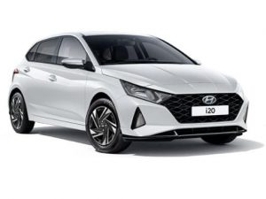 Hyundai i20 Hatchback available on a 6 month car lease with 9000 miles over the term of the contract